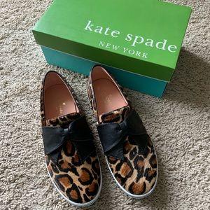 NEW Kate Spade cheetah slip on sneakers